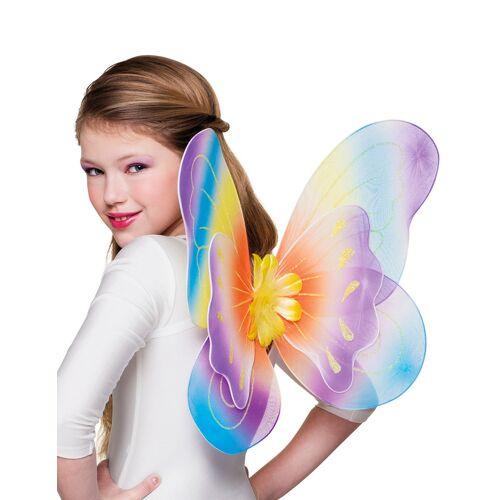 Vegaoo bunte Schmetterlingsflügel für Mädchen