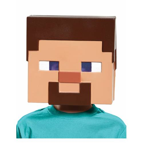 Vegaoo Steve Minecraft Maske für Kinder