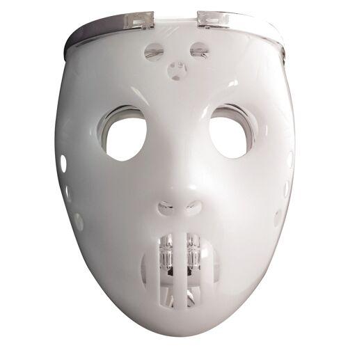 Vegaoo Hockey-Maske 2 in 1 leuchtend für Erwachsene
