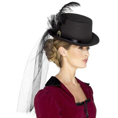 Vegaoo Steampunk Damen-Hut mit Schleier