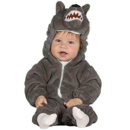 Vegaoo Kleiner Wolf Kostüm für Kleinkinder grau - 92 (1-2 Jahre)