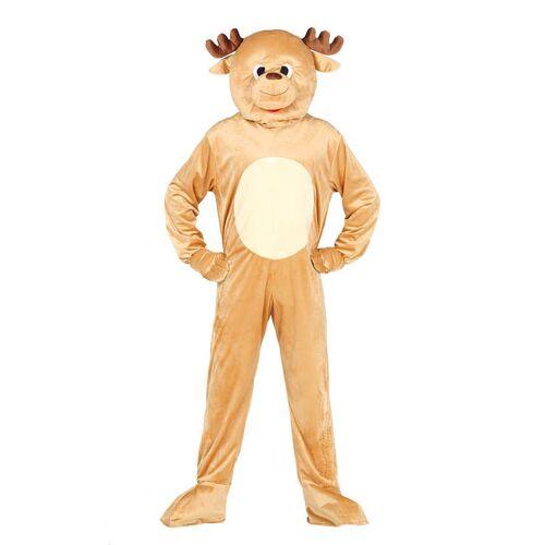 Vegaoo Rentier Kostüm für Erwachsene Maskottchen Weihnachten