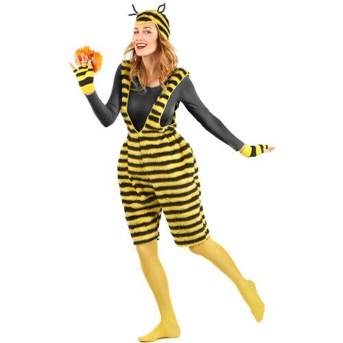 Vegaoo Bienenkostüm für Damen Latzhose Plüsch - L
