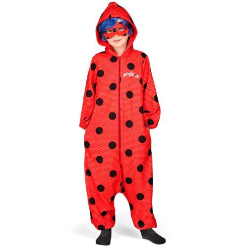 Vegaoo Ladybug Kostüm Einteiler für Kinder - 140/152 (10-12 Jahre)