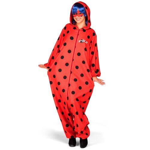 Vegaoo Ladybug Kostüm Einteiler mit Perücke für Erwachsene - XS