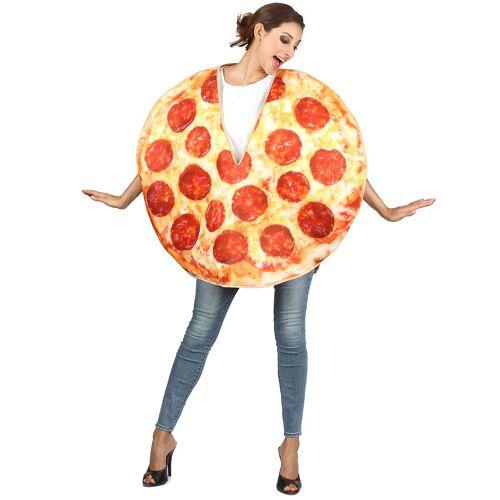 Vegaoo Pizza-Kostüm für Erwachsene rot-gelb-braun