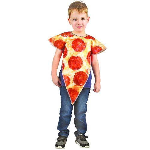 Vegaoo Pizza-Kostüm für Kinder beige-rot - 98/104 (3-4 Jahre)