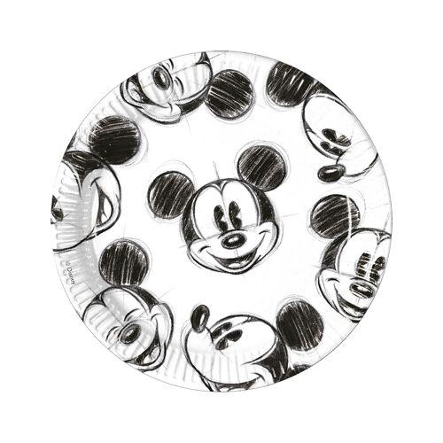 Vegaoo 8 Teller mit Mickey Mouse