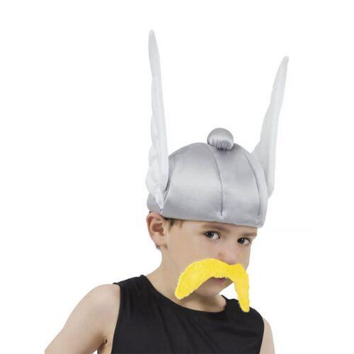 Vegaoo Asterix-Kostümzubehör Helm für Kinder silber