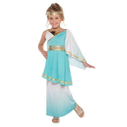 Vegaoo Venus Göttinnen Kostüm für Kinder türkis - 152/158 (12-14 Jahre)