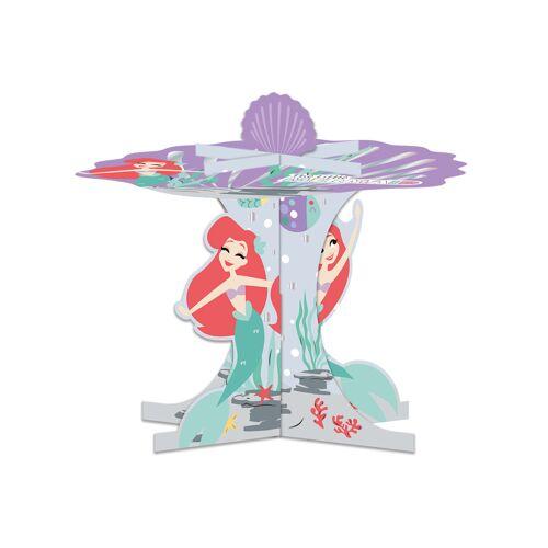 Vegaoo Arielle-Cupcake-Aufsteller Tischzubehör Kindergeburtstag bunt 30x27cm
