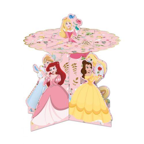 Vegaoo DisneyPrinzessinnen-Cupcake-Aufsteller Tischzubehör Kindergeburtstag bunt
