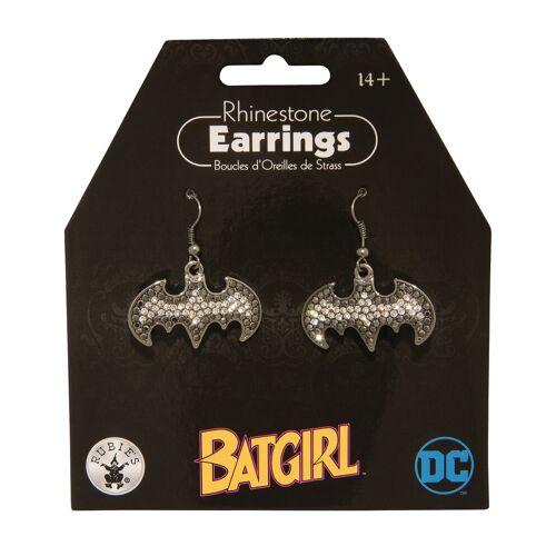 Vegaoo Batgirl-Ohrringe für Damen Schmuck silber