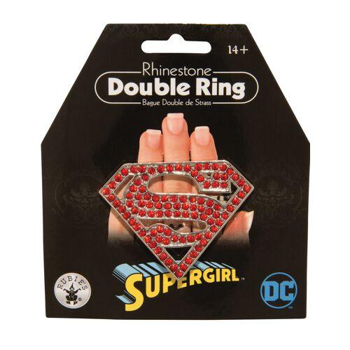 Vegaoo Supergirl-Doppelring für Damen Schmuck rot