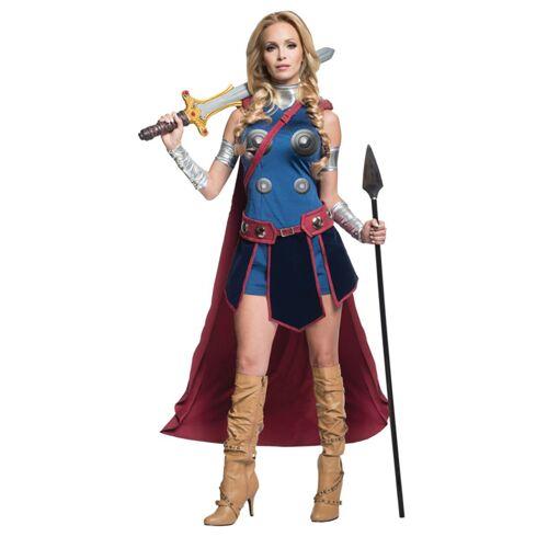 Vegaoo Walküre-Damenkostüm Lizenz Thor Ragnarok bunt - XS