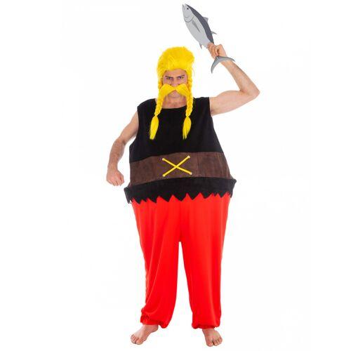 Vegaoo Verleihnix-Kostüm für Herren Asterix und Obelix schwarz-rot - M