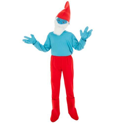 Vegaoo Die Schlümpfe-Papa Schlumpf Kostüm für Kinder blau-rot - 104 (3-4 Jahre)