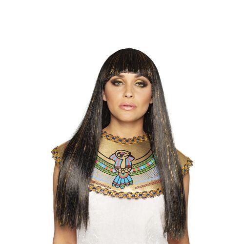 Vegaoo Cleopatra-Perücke für Damen Pharaonin braun