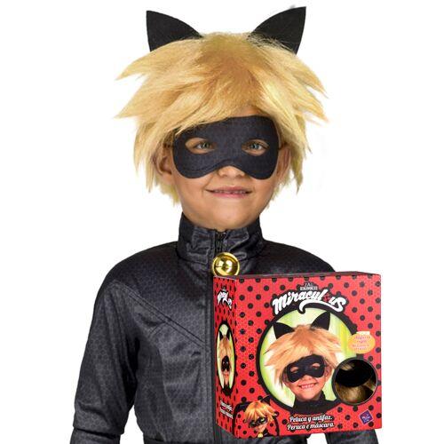 Vegaoo Cat Noir-Perücke und Maske für Kinder Miraculous blond