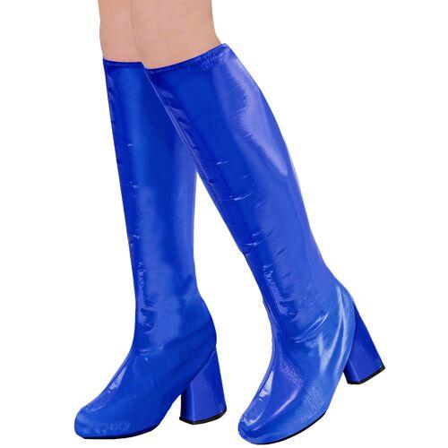 Vegaoo 70er-Jahre Überzieh-Stulpen für Karneval Disco-Zubehör blau