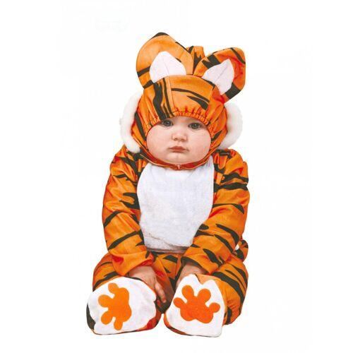 Vegaoo Kleines Tiger-Baby Kleinkind-Kostüm Raubkatze braun-schwarz-weiss - 92 (1-2 Jahre)