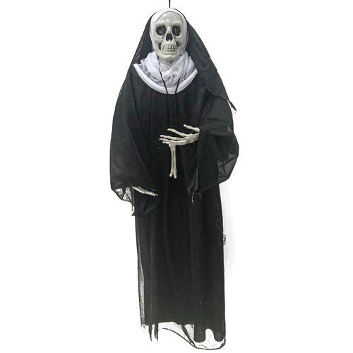 Vegaoo Nonne zum Aufhängen Halloween-Deko 86 cm