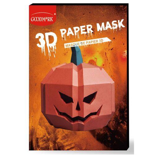 Vegaoo Kürbis-Maske 3D Polygon-Maske für Halloween orangefarben
