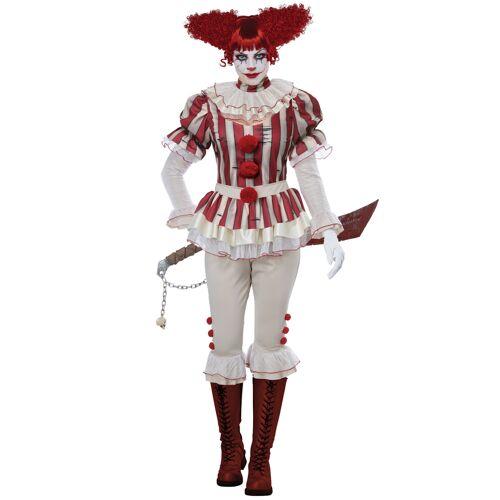 Vegaoo Horrorclown Kostüm für Damen Halloween - XS (36/38)