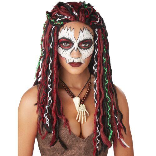 Vegaoo Dreadlocks Voodoo-Perücke Halloween-Accessoire für Damen bunt