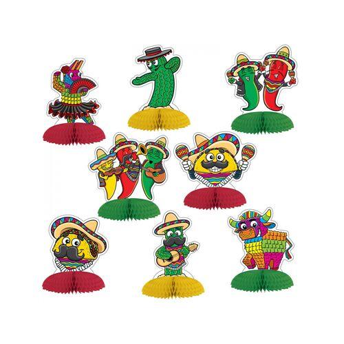 Vegaoo 8 Mini Tischaufsteller Mexiko 10 cm