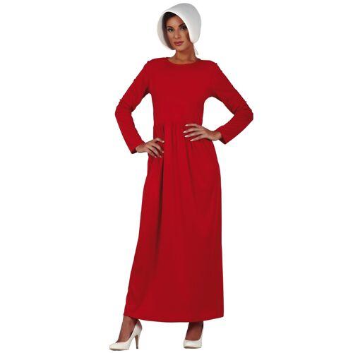 Vegaoo Magd-Kostüm für Damen Dienstmädchen rot-weiss - M (38-40)