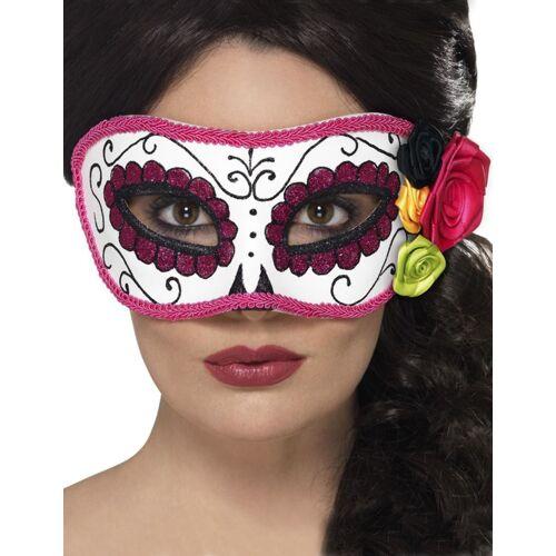 Vegaoo Tag der Toten-venezianische-Augenmaske für Halloween bunt
