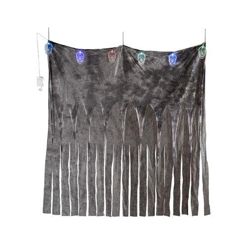 Vegaoo Düsterer Totenkopf-Vorhang für Halloween bunt 185 x 140 cm