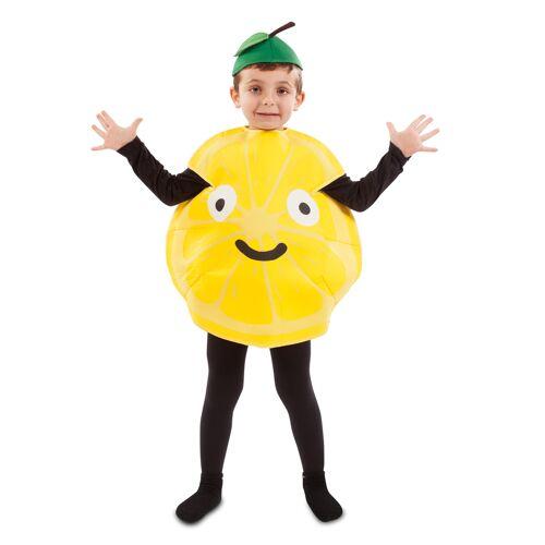 Vegaoo Humorvolles Zitronen-Kostüm für Kinder Faschings-Verkleidung bunt - 86/92 (1-2 Jahre)