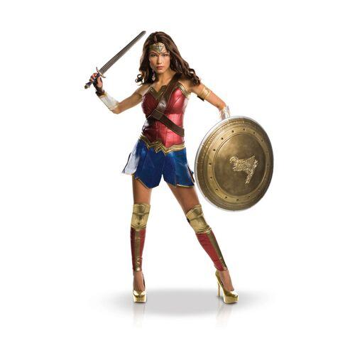 Vegaoo Wonder Woman-Damenkostüm Superheldin-Kostüm bunt - S