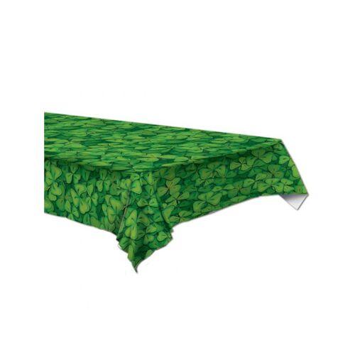 Vegaoo Kleeblatt-Tischdecke aus Kunststoff 137 x 174 cm