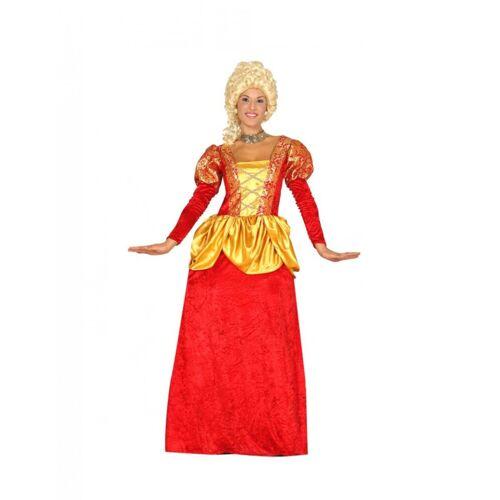 Vegaoo Barock-Kostüm für Damen Faschings-Kostüm rot-gelb - M (38-40)
