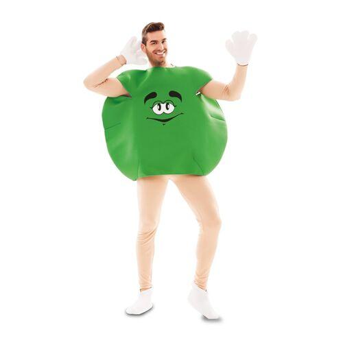 Vegaoo Süßigkeiten Bonbon-Kostüm für Erwachsene Humor grün