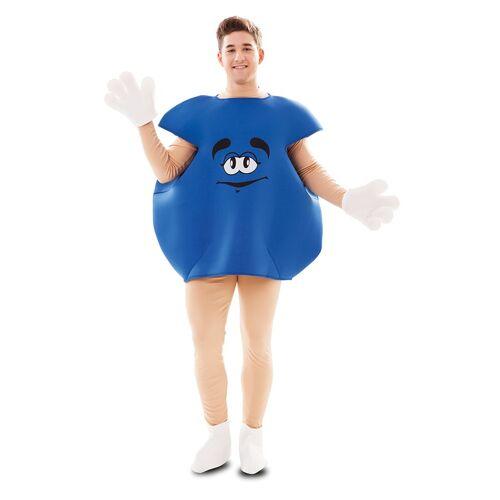 Vegaoo Bonbon-Kostüm Süßigkeiten-Verkleidung für Fasching blau