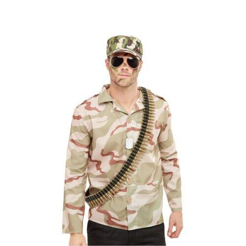 Vegaoo Soldaten Militär-Accessoire-Set für Fasching 4-teilig grün
