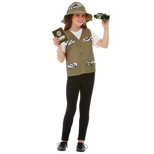 Vegaoo Safari-Forscherin Mädchenkostüm für Fasching 4-teilig bunt - 116/128 (4-6 Jahre)