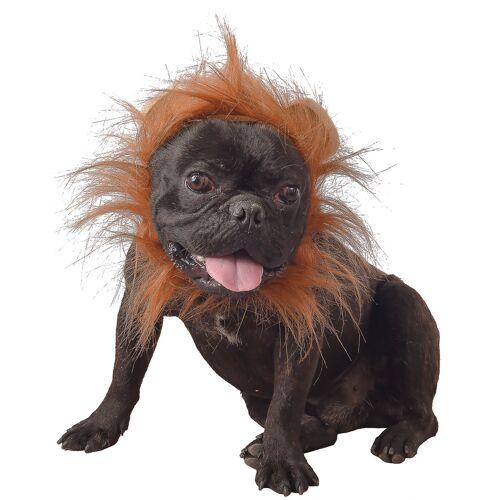 Vegaoo Löwenmähne für Hunde Faschingsaccessoire braun