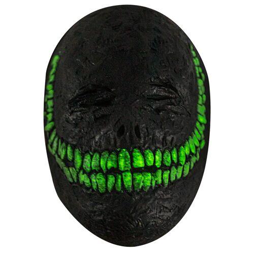 Vegaoo Lächelnde Dämonenmaske für Erwachsene schwarz-grün
