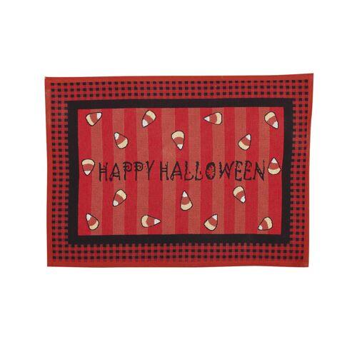 Vegaoo Fussabtreter für Halloween Happy Halloween-Partydeko rot-schwarz