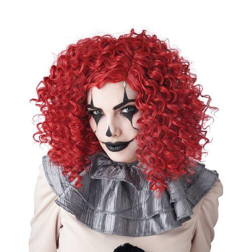Vegaoo Clown-Perücke für Damen Afro-Perücke lockig rot