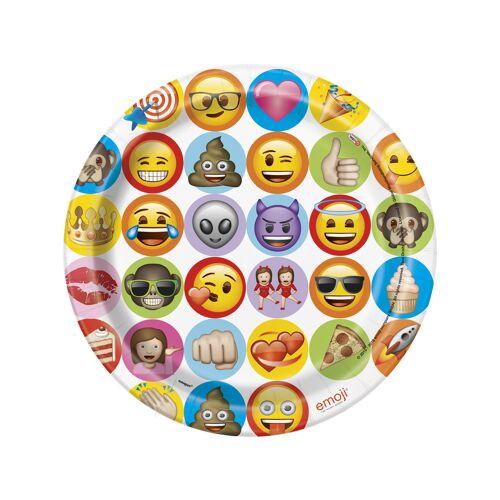 Vegaoo 8 Pappteller Emoji 23 cm