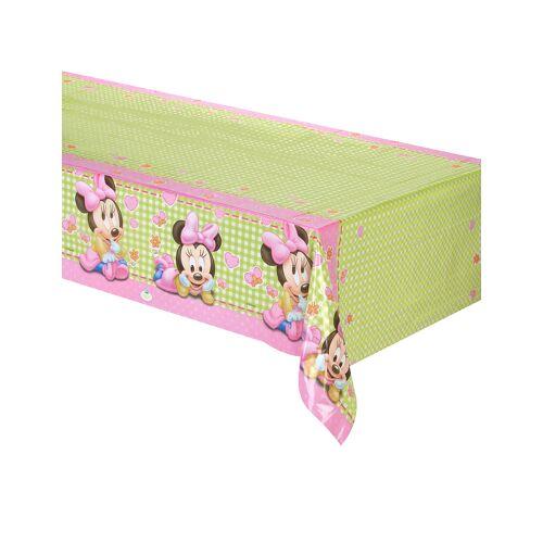 Vegaoo Kunststoff-Tischdecke Baby Minnie