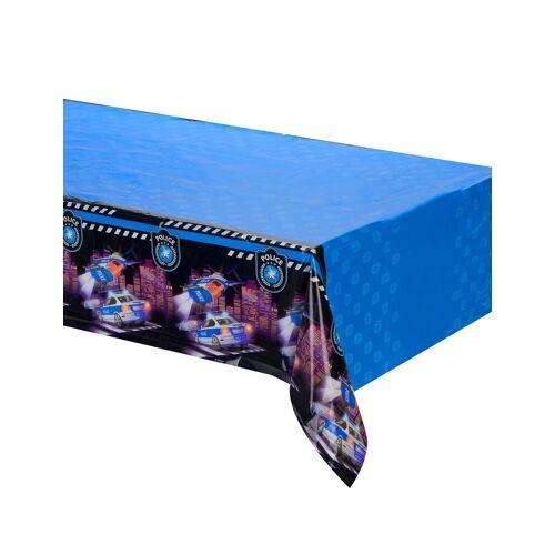 Vegaoo Polizei-Tischdecke für Kindergeburtstage blau 120x180cm