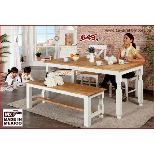 1a Direktimport Esstisch, Küchentisch, weiß, Shabby Chic, Landhausstil, aus Mexiko