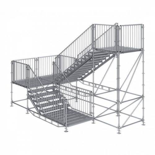 Scafom-rux Bautreppe, Außentreppe Komfort plus 1,50 m x 3,50 m